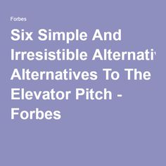 No More Elevator Pitches Please  Pitch Blogging And Top Blogs