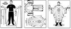 Free Printable Father Alejandro paper doll and vestments for kids to color and learn about the Mass. Kids Mass Crafts | The Roman Catholic Mass Explained.    Please note: ***When printing, make sure that Page Scaling is set to Fit to Paper. This way, the entire image will fill the page and not get cut off.