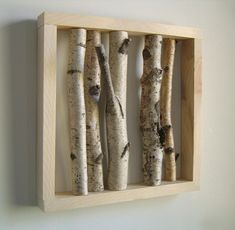Would you like to bring nature into your home? Then take a look at our amazing ideas and suggestions for a cool and original birch trunk decoration below! Bedroom Murals, Wood Bedroom, Bedroom Decor, Ab Ins Beet, Creative Box, Cool Walls, Wall Design, Decoration, Decorative Items