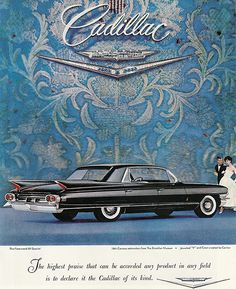1961 Cadillac Fleetwood ad by That Hartford Guy, via Flickr