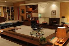 Mad Men: Don Draper and Megan Calvet's mid-century-styled apartment.