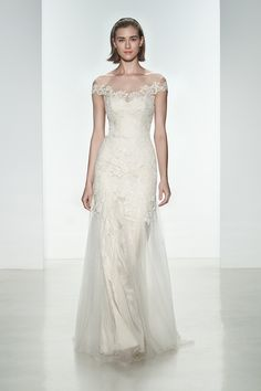 Top 10 Bridal Trends for 2015 ----  Off Shoulder Sleeves  Thanks to the continuing Boho movement, and of course the ever stylish Mrs Clooney (number 3 is an almost exact replica of her dress by the way) wide open necks with off shoulder sleeves are a big trend for next year. Keep them gossamer light and floaty for a romantic summer wedding, lace and tight for a timeless formal celebration or long and elegant for a Winter affair...
