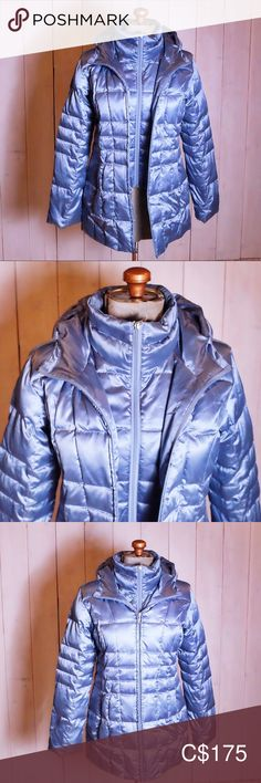 Lands End Metallic Blue Puffy Winter Coat Metallic Blue, Plus Fashion, Fashion Tips, Fashion Trends, Fit S, Lands End, Winter Coat, Thrifting, Jackets For Women