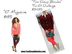 """The Fabulous THRIFT SHOP Challenge!!!!!!!""  ""O"" MAGAZINE ~ vs ~ TOO CHEAP BLONDES  Velvet Revolution"