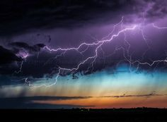 ***Spectacular lightning from the anvil of an LP supercell at sunset in north east Colorado by Brad Hannon