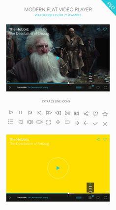 PSD Video Player UI - graphberry.com