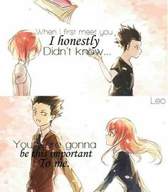 Anime: A silent voice Sad Anime Quotes, Manga Quotes, Koe No Katachi Anime, A Silent Voice Anime, Best Poems, Howl's Moving Castle, Les Sentiments, Anime People, Cute Love