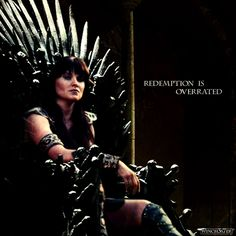 Redemption is Overrated! Both shows are amazing but I'm a Xena fan 'till the very end! Hope you like! Xena-Game of Thrones Style Lucy Lawless, Game Of Warriors, Salem Tv Show, Amazon Queen, Artist Film, Photo Star, Xena Warrior Princess, Iron Throne, Mother Of Dragons