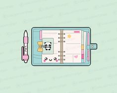 High quality vector clipart. Cute planning vector clip art. Kawaii planner supplies clipart set. Kawaii clipart! This set features kawaii cutting machines, printer, sticker sheets, happy mail and more! Perfect for creating greeting cards,invitations, gift wrap and stationery,