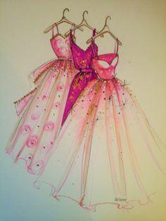 ORIGINAL Fashion Illustration-My Dresses by loveillustration