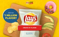 Lay's Do Us a Flavor Sweepstakes – Win 1 Million dollars! - ends March 19, 2017