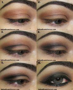 Indian Smokey Brown Eye Makeup step by step Tutorial