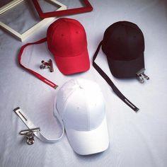 00a3b39a0 Men Women Long Belt Strap Solid Baseball Cap Snapback Sun Visor Hats+Clip   baseballcamps