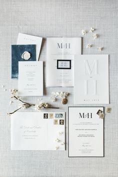Classic wedding invitations. Loving this elegant and classy monogrammed wedding invitation suite