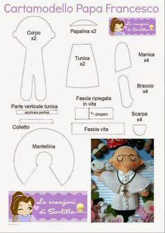 Feltro Fácil: Papa Francisco em Feltro