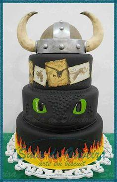 How to train your dragon birthday cake toothless 35 ideas for 2019 Dragon Birthday Cakes, Dragon Birthday Parties, Dragon Cakes, Dragon Party, Cake Birthday, 5th Birthday, Toothless Party, Toothless Cake, How To Train Dragon