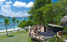 St Vincent Deck Petit St Vincent, Saint Vincent, Caribbean Resort, Caribbean Vacations, Tropical Beach Houses, Top 10 Hotels, Windward Islands, Island Resort, Hotel Spa