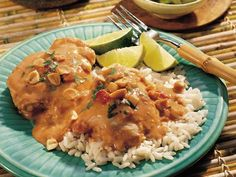 Crockpot Thai Chicken recipe...my cousin Jen served this for dinner one tonight and it WAS SO GOOD.  I tried it out myself and it was super easy.  PS: Instead of 8 chicken thighs, I did 4 chicken breasts.  Great served over rice or quinoa