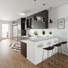Scandinavian kitchen by kiltzer | Architecture | 3D | CGSociety