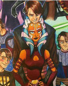 Anisoka Star Wars Love, Star Wars Fan Art, Star War 3, Anakin X Ahsoka, Ahsoka Tano, Anakin Skywalker, Star Wars Rebels, Star Wars Clone Wars, Star Wars Drawings