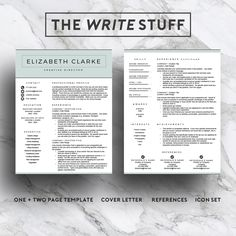 How To Make A Resume With Word Resume Template For Word 1 & 2 Page Resume Cover Letter For Mac Or .