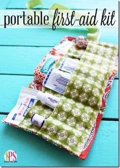 Portable first aid kit :) great udea!  Good for the purse or even better the diaper bag!