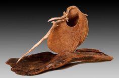 sculptural basket 'Tide Rider' by Deborah Smith