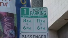 One-minute parking sign in Los Angeles,..(Really?) Parking signs that went up in an upmarket Los Angeles neighborhood has proved a major embarrassment for the city's transport chiefs. [Ahhh..dO yOU tHink AnYbOdy wiLL NotiCe SIR? NO!, pUt tHem UP!] Los Angeles Department of Transportation (LADOT) was inundated with complaints about the draconian restrictions.