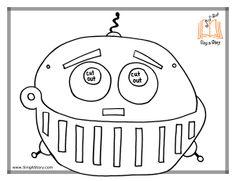 Free printable robot mask!
