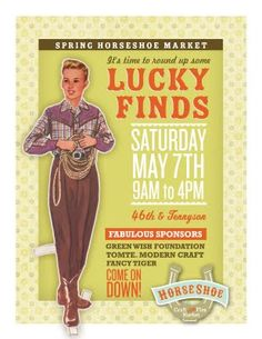 ONE WEEK until the first Horseshoe Craft & Flea Market - NW Denver, May 7.  #horseshoe, #market, #luckyfinds, I'll be there! Sharing a booth with @Shauna Alexander