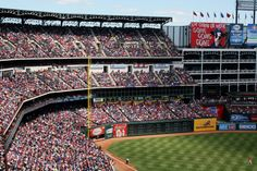 My first Baseball Game ever! Boston Red Sox at Globe Life Park in Arlington, Texas - May 2013 Baseball Games, Baseball Field, Arlington Texas, Boston Red Sox, Wonderful Places, Four Square, Ranger, Places Ive Been, Globe