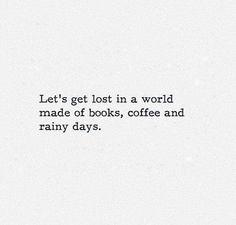books coffee rainy days                                                                                                                                                                                 More