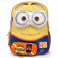 Jelfis.com - Despicable Me 2 16' Backpack - Large Minions Yellow ...