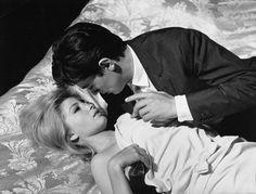 """Monica Vitti and Alain Delon in """"L'eclisse"""" (dir. Michelangelo Antonioni)"""