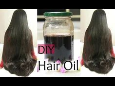 ✔DIY:Hair Growth Oil for Long Shiny Hair | Reduce Hair Fall and Grey hair | Naturally - YouTube