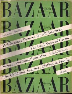 Harper's Bazaar cover June 1956 (art director Alexey Brodovitch) more mature style than earlier @ Bazaar. Alexey Brodovitch, Mature Fashion, Fashion Advertising, Warhol, Harpers Bazaar, Art Director, Magazine Design, Types Of Fashion Styles, Typography Design