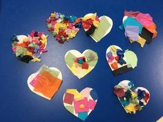 Early Childhood Crafts, Tissue Paper Hearts, Service Project, Crafting Project