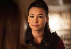 """GLEE: Santana (Naya Rivera) questions Rachel (Lea Michele, not seen) in the """"Feud"""" episode of GLEE  airing on Thursday, March 14  (9:00-10:00 PM ET/PT) on FOX. ©2013 Fox Broadcasting Co. CR: Adam Rose/FOX"""
