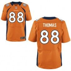 Nike Elite Mens Denver Broncos http    88 Demaryius Thomas Team Color Orange 60e76c423