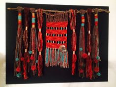 Fiber Art. Wall hanging wool art. (MOS)