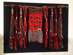 Fiber Art. Wall hanging wool art. (MOS)