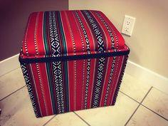 Ottoman from the Sadu fabric .