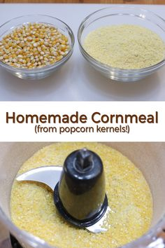 Learn how to make homemade cornmeal using popcorn kernels! Isn't that awesome? It is so easy to make if you run out of cornmeal and don't want to go to the store to buy it, or if it is just simply hard to find where you live. Make it at home! It is so satisfying eating a piece of fresh homemade cornbread made from homemade cornmeal using popcorn kernels. If I can do it, you can do it!
