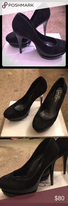 Jessica Simpson Platform Heels This super high gorgeous platform heels by JS are stunning. Worn a few times but in pretty good shape. This shoe will not disappoint. Jessica Simpson Shoes Heels