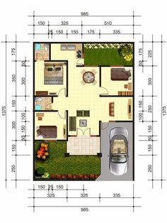 Trend of Simple House Plan Minimalist Home Design Bungalow House Plans, Bedroom House Plans, Dream House Plans, Small House Plans, House Floor Plans, House Layout Plans, House Layouts, Minimalist House Design, Minimalist Home