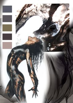 Mood Board Dark Collection Inspired by nature  Demure Collection  Chloe Grace Designs