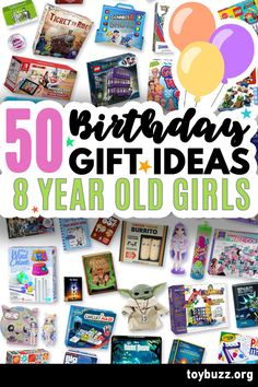 These 50+ Birthday Gifts for 8 Year Old Girls are gonna be amazing for our kids' birthday parties!! I can't believe you can see all of the coolest gifts for 8 year olds birthdays all in one place.