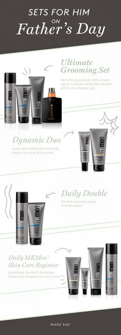 Gifts dad will adore! Keep him looking and feeling his best with shave and skin care essentials. Click for more Father's Day ideas! | Mary Kay