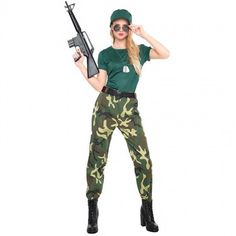 Disfraz de Paramilitar para mujer #disfraces #carnaval #novedades2017