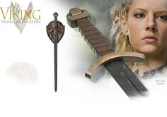 This Officially Licensed Sword of Lagertha SH8001 by Shadow Cutlery has a blade of 420J2 Stainless Steel that has been given a blackened finish. The hilt consists of a simple down-turned guard, a large three-lobed pommel and a leather wrapped grip representing typical Viking Sword styles of the period. Avail at NobleWares